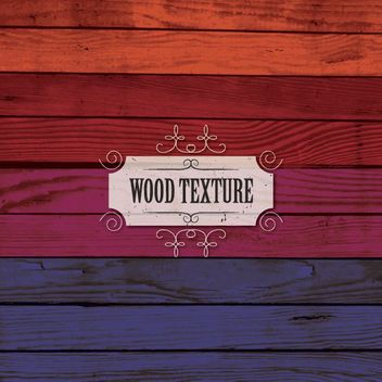 Multicolored Wooden Texture Boards - Free vector #163601
