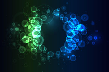 Glowing Colorful Bokeh Circles Background - Free vector #163701