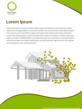 Beautiful Real Estate Leaflet Template - Free vector #163751