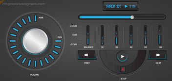 Elegant Music Player Interface - бесплатный vector #163781