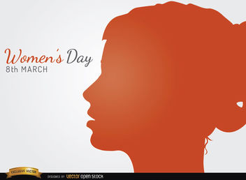 Women's day profile face - vector gratuit #163881