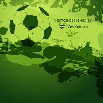 Abstract Grungy Soccer Background - Free vector #164031
