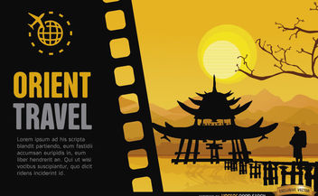 Travel to China background - vector gratuit #164101