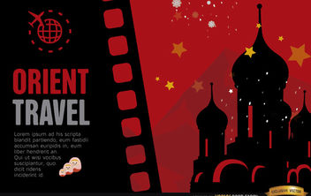Travel to Russia background - vector #164111 gratis