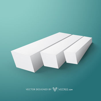Minimal 3D Laying Down Growing Graph - Kostenloses vector #164121