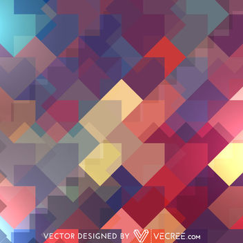 Arrowhead Abstract Colorful Oblique Rectangles Pattern - vector gratuit #164141