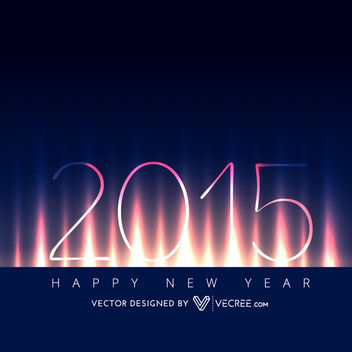2015 New Year Background on Lightening Curtain - vector #164161 gratis