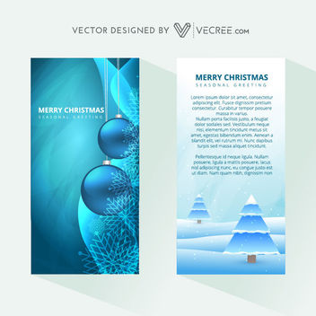 2 Beautiful Xmas Brochure Templates - Kostenloses vector #164201