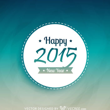 New Year 2015 Round Badge Template - Free vector #164211