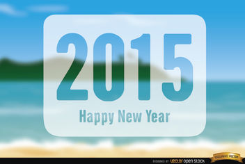 2015 New Year Holidays beach - Free vector #164271