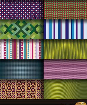 10 abstract patterns backgrounds - Free vector #164341