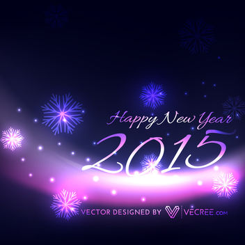 Purple Lights New Year & Xmas Background - vector gratuit #164371