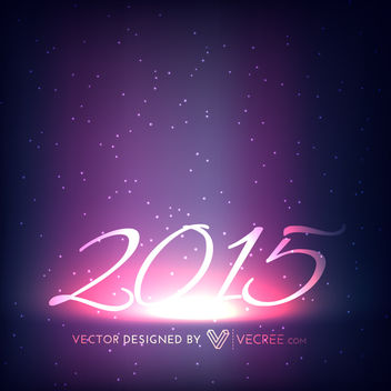 Stunning 2015 New Year Background on Space - vector gratuit #164411