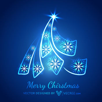 Glowing Creative Xmas Tree Shaped Curves - Kostenloses vector #164421