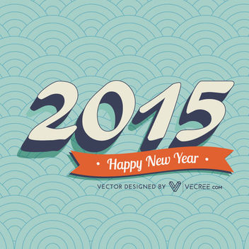 Circular Pattern 2015 Vintage New Year Greeting - Free vector #164441