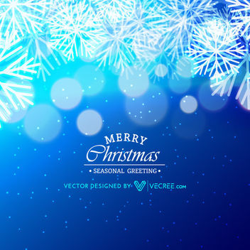 Shiny Bokeh Bubbles & Snowflakes Xmas Background - vector gratuit #164451