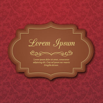 Brownie Vintage Label on Flat Flouring Plant Background - vector gratuit #164481