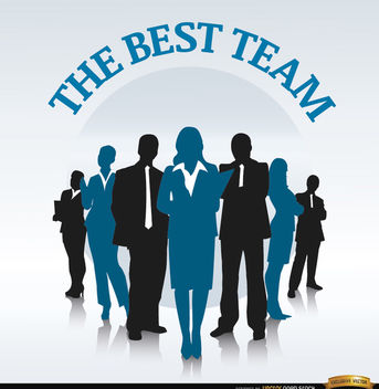 Business team in row background - vector #164601 gratis