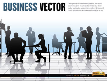 Business people office work - vector #164621 gratis