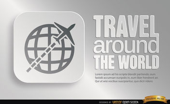 World travel symbol promo - Free vector #164781