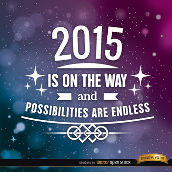 2015 stars motivational background - vector #164891 gratis
