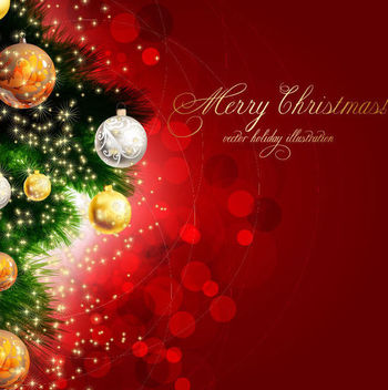 Bright Decorative Christmas Background - vector gratuit #164981