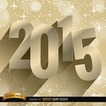 2015 stars golden background - vector gratuit #165011