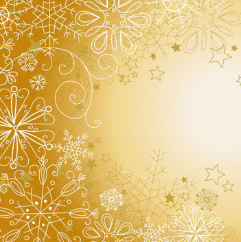 Snowflakes & Stars Linen Christmas Background - Free vector #165031