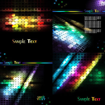 Modern Hexagon & Mosaic Digital Background Set - vector #165061 gratis
