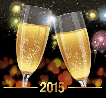 2015 celebration toast background - vector gratuit #165081