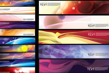 Abstract Creative Wide Banner Background Pack - Kostenloses vector #165111