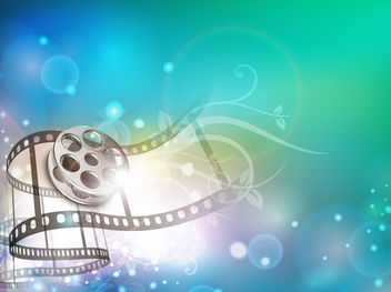Creative 3D Film Strip Background - vector gratuit #165441