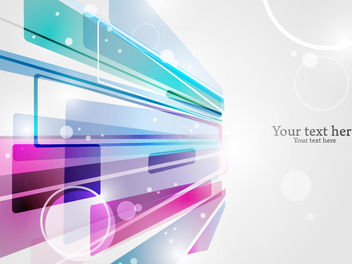 Futuristic Bright Colorful Abstract Background - Free vector #165491