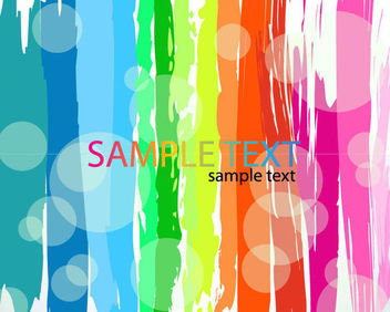Colorful Grungy Brush Paints - Free vector #165601
