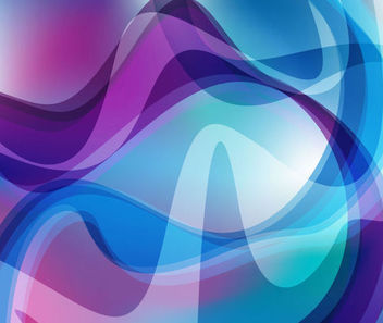 Colorful Abstract Fluorescent Curves Background - vector gratuit #165621
