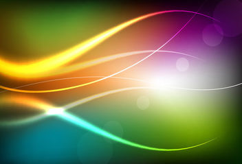 Colorful Background with Bright Curves - vector gratuit #165631