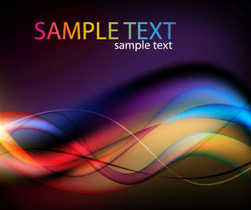 Colorful Blended Waves & Curves Background - vector gratuit #165691
