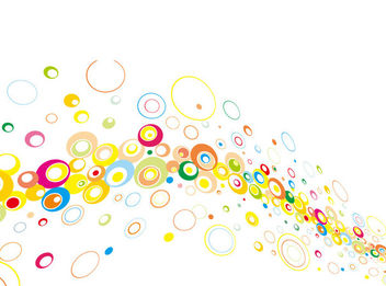 Colorful Floating Abstract Circles Background - vector gratuit #165711