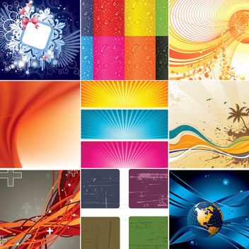 Abstract Business, Seasonal & Grunge Background Collection - vector #165741 gratis