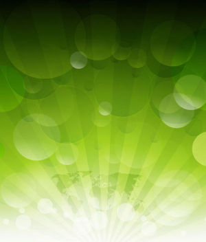 Shining Sun Rays on Green with Bubbles & Map - Kostenloses vector #165751