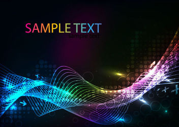 Colorful Sparkling Spiral Lines on Dark Halftone - vector gratuit #165781