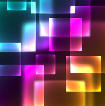 Neon Glow High Tech Squares Background - Free vector #165901