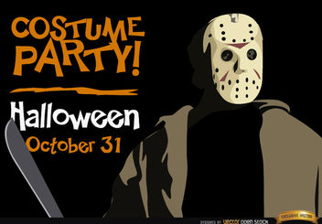 Halloween invitation party Jason Voorhees - Free vector #165931
