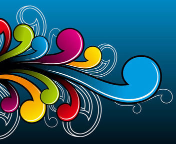 Abstract Colorful Flat Simplistic Swirls - vector gratuit #165941