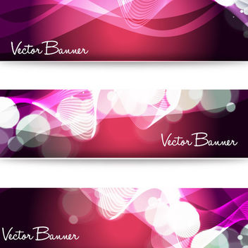 Shiny Dynamic Light Ripples Banner Set - vector gratuit #166011