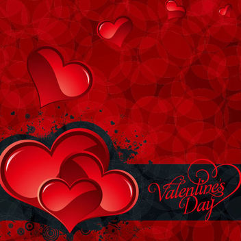 Bokeh Patten Valentine Day Card - Free vector #166041