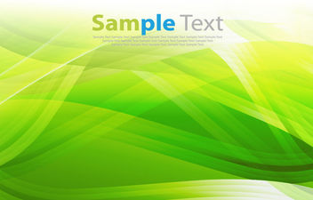 Fluorescent Piles of Green Waves Background - Kostenloses vector #166071
