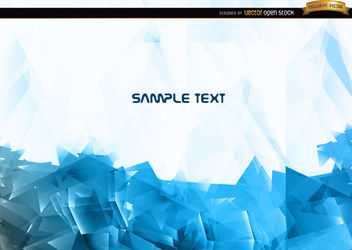 Abstract blue polygonal background - vector #166091 gratis