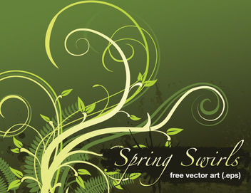Grungy Spring Swirls Background - vector gratuit #166161