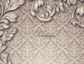 Retro Golden Floral Seamless Pattern - Free vector #166181